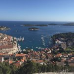 View of Hvar city from the fortress tower