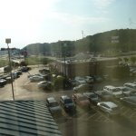 View from 4th floor, car park & Bob Evans eatery. Other places to the right.