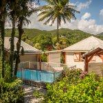 Vue d'ensemble des Jardins Pointe Noire en Guadeloupe
