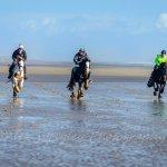 Galloping along Silecroft Beach