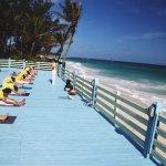 Yoga Class on the Beach Platform