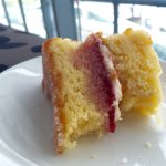 Gluten Free Victoria Sponge to go please... No afternoon tea at heathrow's lounge is complete wi