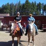 Trail ride on Reggie and Herbie