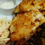 Every Tuesday 2for1 2pc haddock n baked fries coleslaw and tartar. No deep fryer...delish