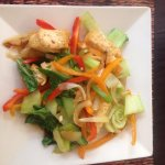 veg stir fry with tofu