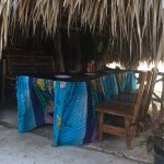 Palm hut seating