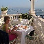Breakfast looking towards Vesuvius