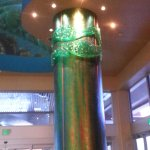 Pillars designed to look like seaweed