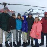 Top of the glacier - dog sledding