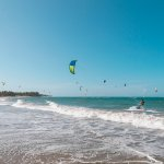 Kite boarding in Cabarete
