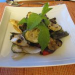 Vegetables with Olive oil mint