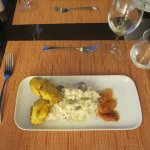 Monk Fish with Risotto with Grapefruit