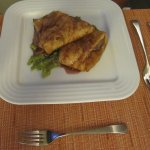 Beef in Pastry on Bed of Peas