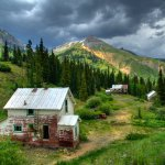 Abandoned Mining Town on the Road to Ouray
