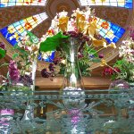 foyer stained glass dome