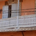 Carved balconies
