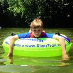 Relaxing float on the Antietam on a hot summer day