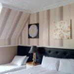 Las camas y una adicional, precioso hotel!