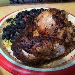 Chicken, yellow rice & beans
