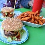 burgers and sweet potato fries