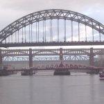 Tyne Bridge on a rainy day
