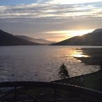 Sunrise view of Killary Harbour from room