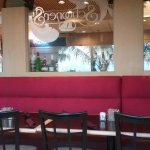 Behind the bar seating, Schooner's