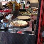 Egg and cheese crepe