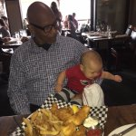Little Ricky going for Granpa's fish and chips..