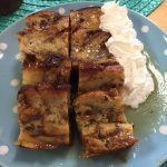 Bread pudding with warm vanilla bourbon sauce