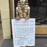 King Tut greets you out front