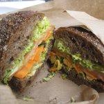 Delicious! Dannish version of smoked salmon sandwich.