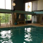 Girls loved pool with sauna, comfy lounge chairs & locker rooms with toilet & shower. Towels too