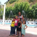 In the plaza with my family!!
