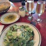Ceasar Salad with house Chardonnay.