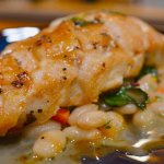 Fine Dining: Pan roasted chicken with white bean gravy
