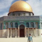The Dome of the Rock; also the site of the First and Second Temples.