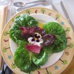 Salad to start.