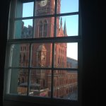 Great view of St Pancras from my room at Hotel Megaro