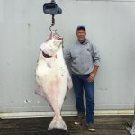 Capt. Jerry with a nice halibut.