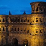 View of Porta Nigra just after sunset.