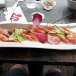 Sashimi de saumon mariné par nos soins(05/2016)