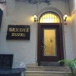 Serene hotel entrance