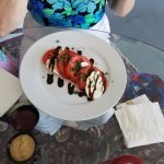 Sliced Tomatoe's, Fresh Mozzarella and Basil, Drizzled with Honey Balsamic Reduction