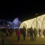 Sydney Opera House and Botanical Gardens during Sydney VIVID festival. 2 kilometres north of Hot