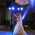 First dance - dance floor in reception hall