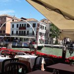View of Grand canal from the restaurant.
