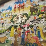 Janpath Theme on the walls of restaurant