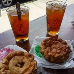Excellent pie and iced tea.