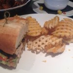 Chicken Sandwich (and some carriean flare) and Waffle fries